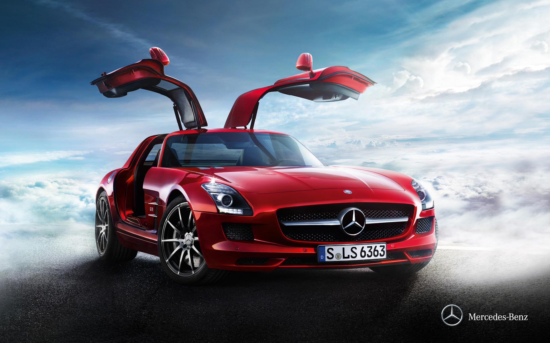 mercedes benz sls amg doors up. Black Bedroom Furniture Sets. Home Design Ideas
