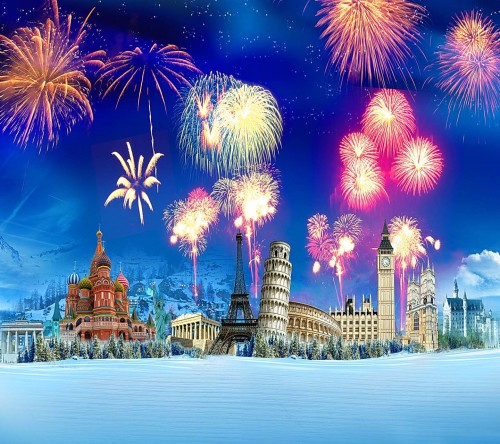 Animated Fireworks Cities