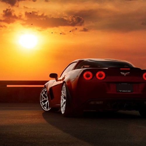 Chevrolet Corvette RED bACK