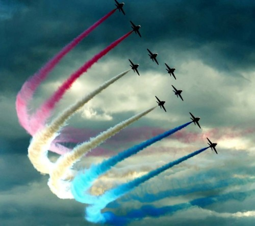 Jet Fighters Colors Spreading