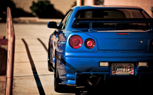 Rear view-Skyline Godzilla