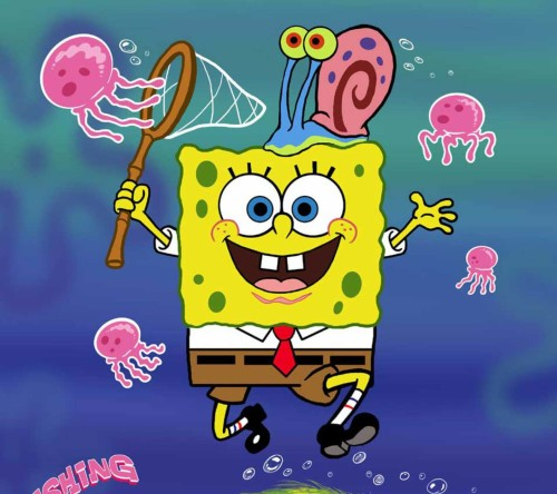 Spongebob And Jellyfish