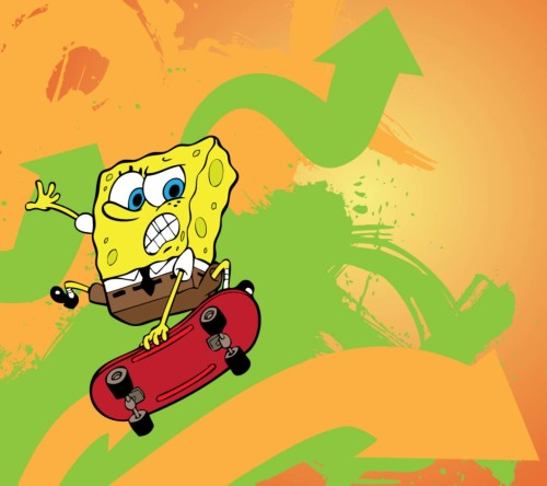 Spongebob Flying