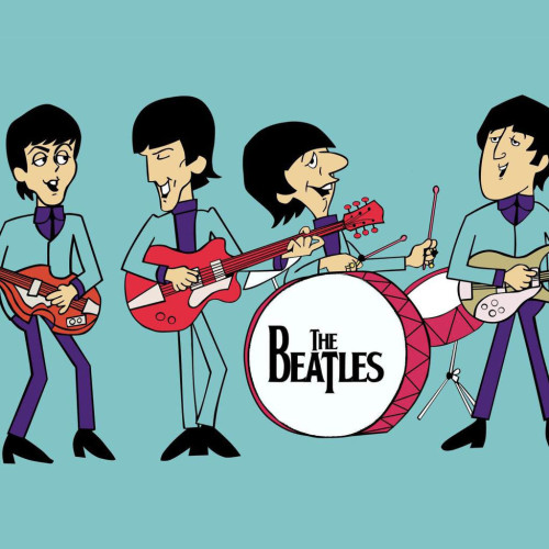 Beatles Band-Cartoon