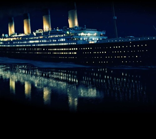 Titanic Ship At Night Wallpaper