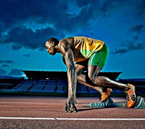 Usain Bolt Athlete Run