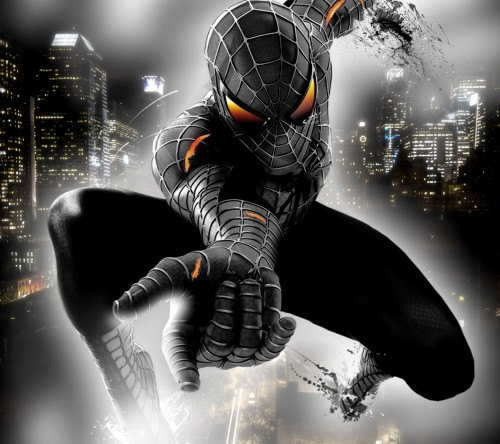 spider man black n white
