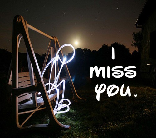 3D Animated I miss you