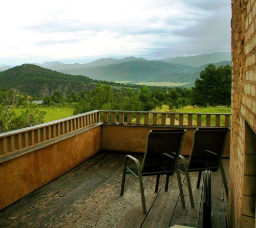 Mountains View And Chairs